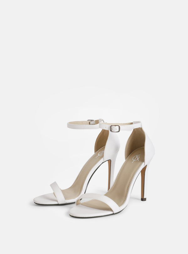 Jasmine Basic Heeled Sandal White