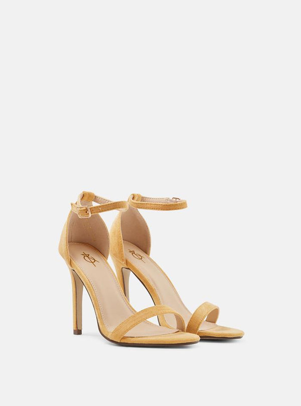 Jasmine Basic Heeled Sandal Yellow Suede