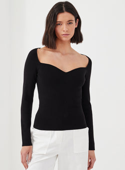 Jasper Knitted Top Black