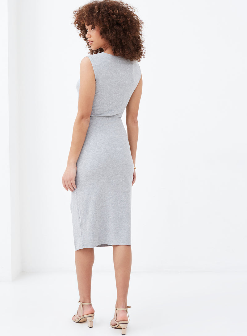 Jett Cut Out Midi Dress Grey
