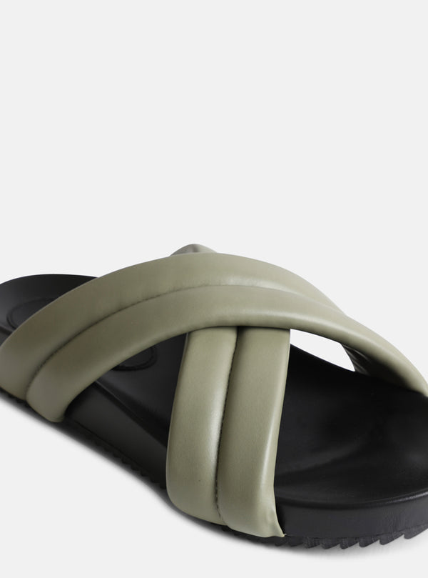 Misty Padded Sandal Sage Green