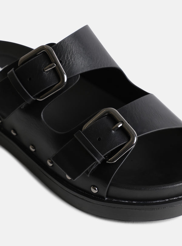 Palma Buckle Strap Slider Black