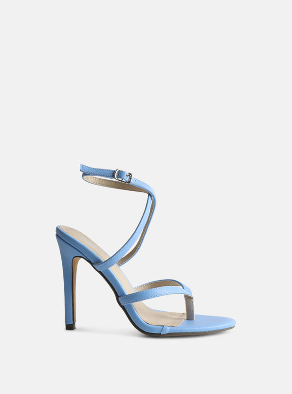 Penny Toe Strap Stiletto Heel Blue