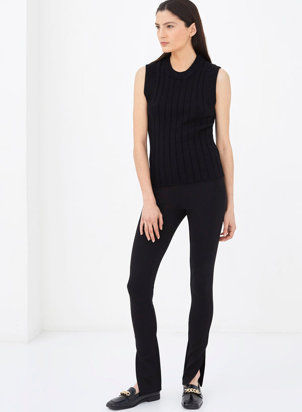 Rivoli Knitted Vest Top Black