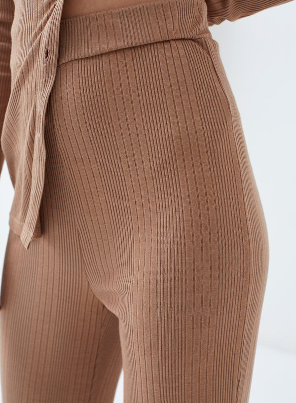 Rogue Flared Leg Pants Nude