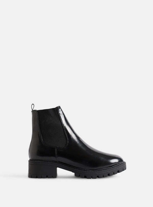 Roscoe Chunky Ankle Boot Black