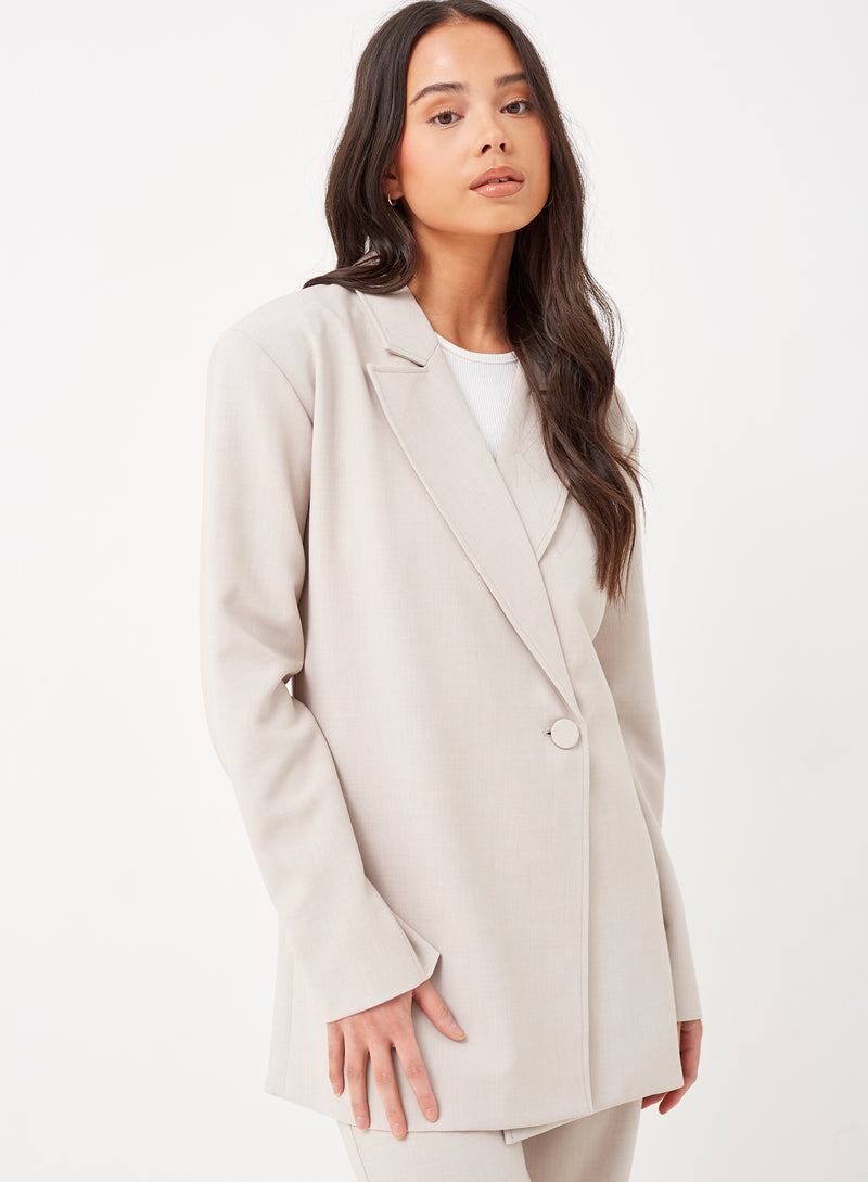 Skye Oversized Blazer Light Grey
