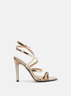 Thessy Strappy Heeled Sandal Gold Pu