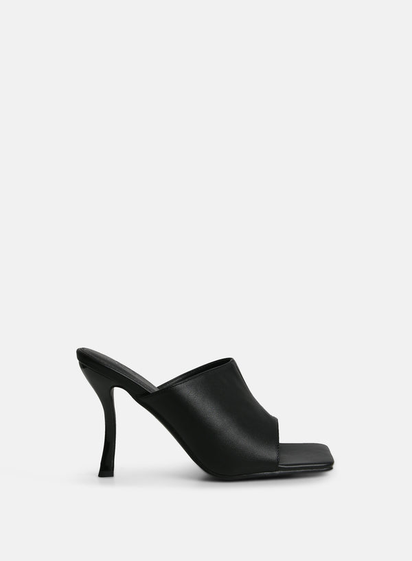 Vice Heeled Mule Black