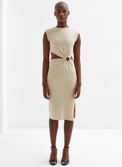 Vita Cut Out Dress Nude