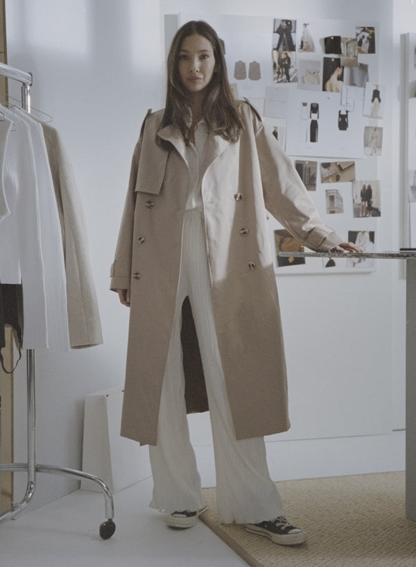 Lille Belted Trench Beige