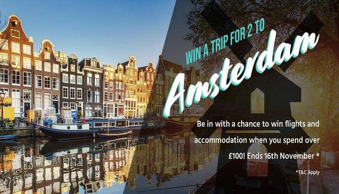 Win a trip to Amsterdam