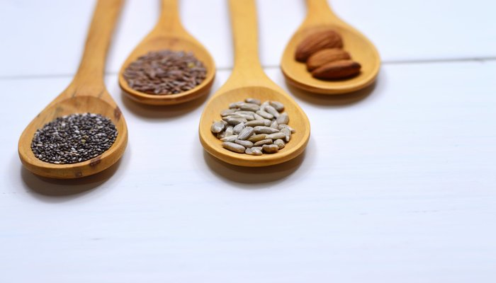 Whole Grains in Wooden Spoon