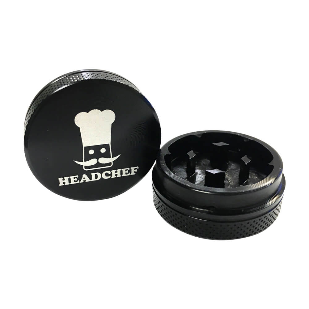 Head Chef Mini 2-Piece Grinder Black 30mm