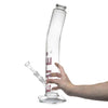 Bent Neck High Clear Cylinder Bong
