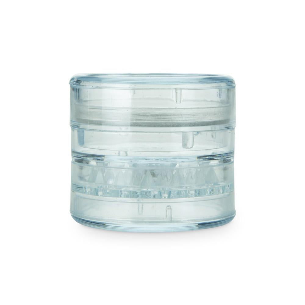 Large Acrylic Herb Grinder/Sifter with Magnetic Lid Clear