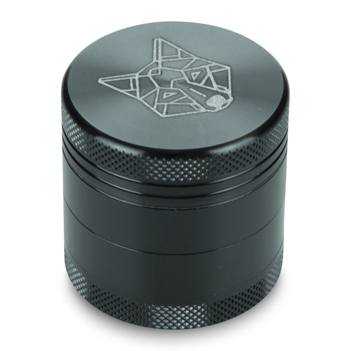 4 Part Piece The Wolf Pocket Aluminium Black Small Grinder
