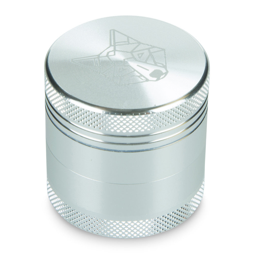 4 Part Piece The Wolf Pocket Aluminium Silver Small Grinder