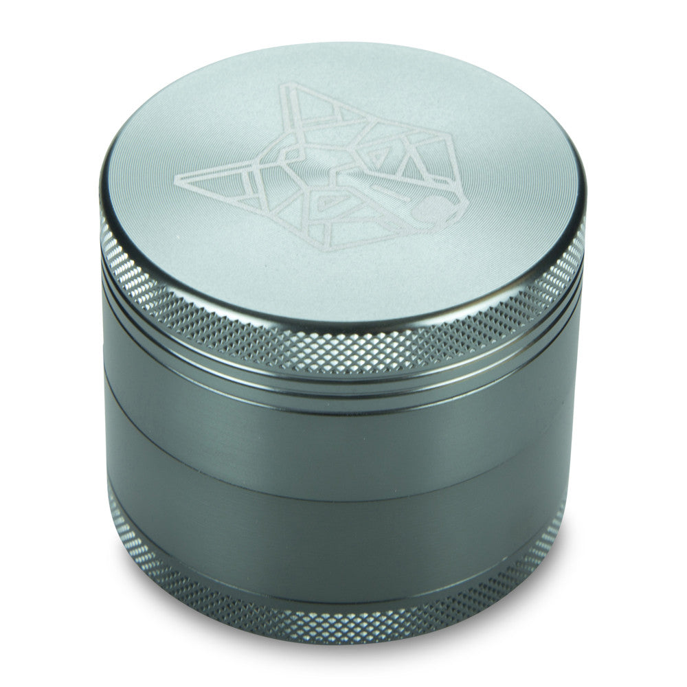 4 Part Piece The Wolf Pocket Aluminium Metal Grey Medium Grinder