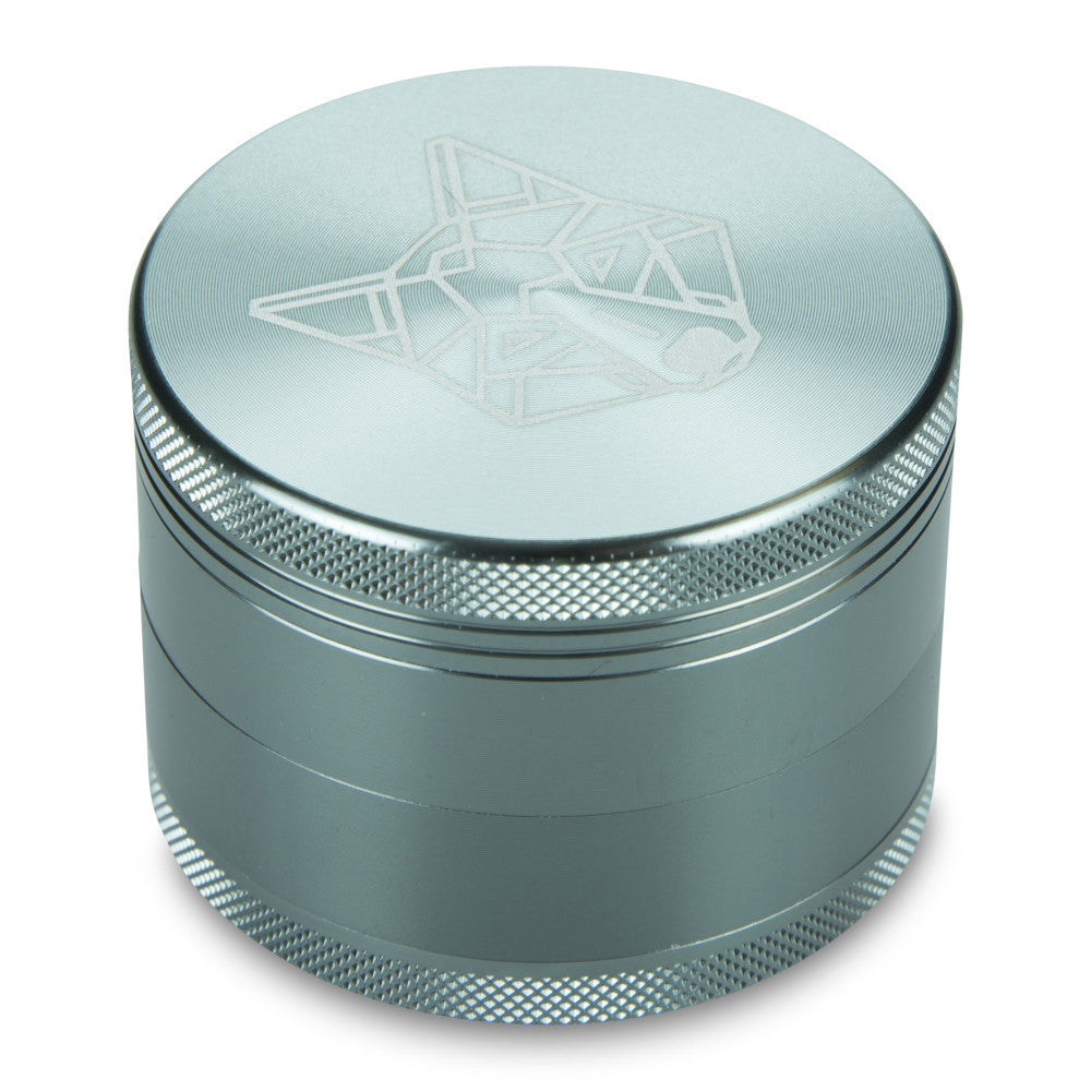 4 Part Piece The Wolf Pocket Aluminium Metal Grey Large Grinder