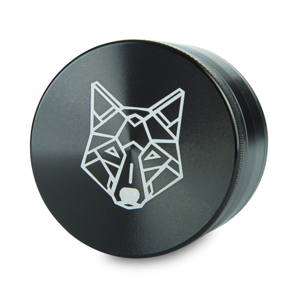 4 Part Piece The Wolf Pocket Aluminium Black Large Grinder