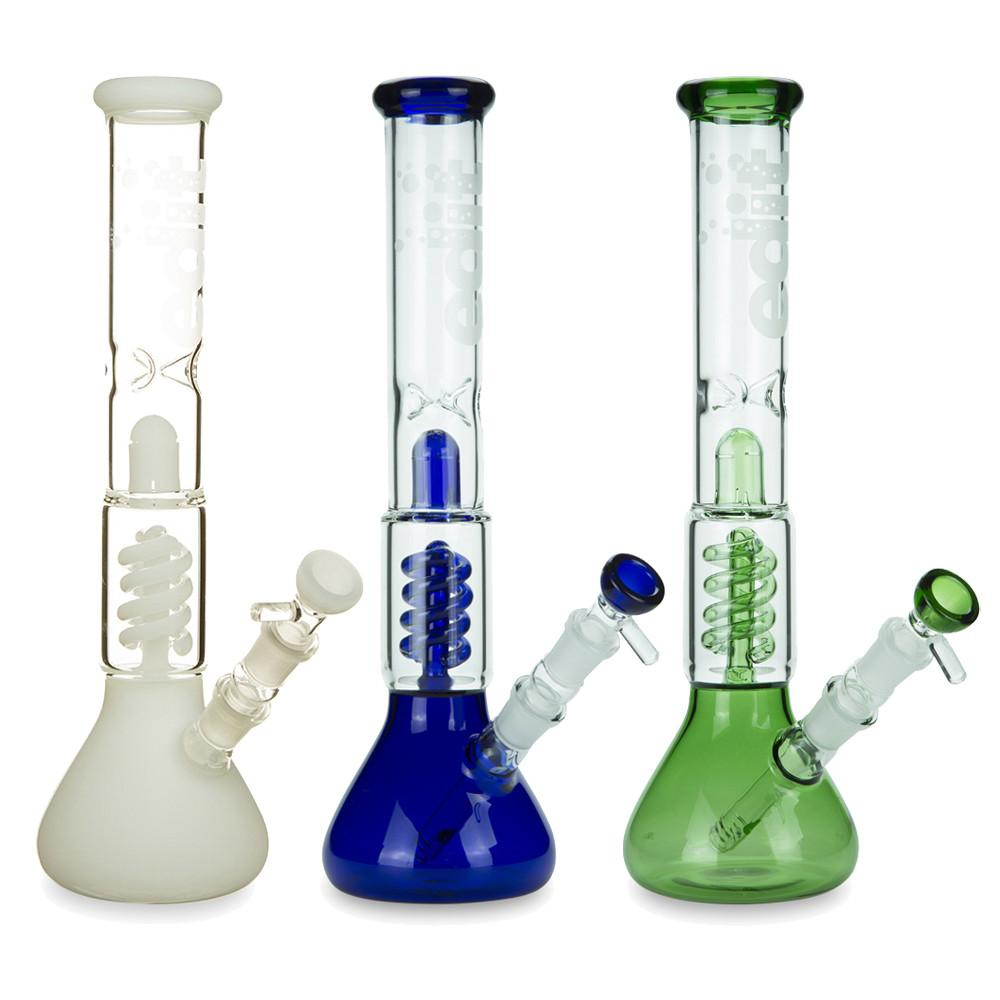 Twin Spiral perc Beaker Base Water Pipe