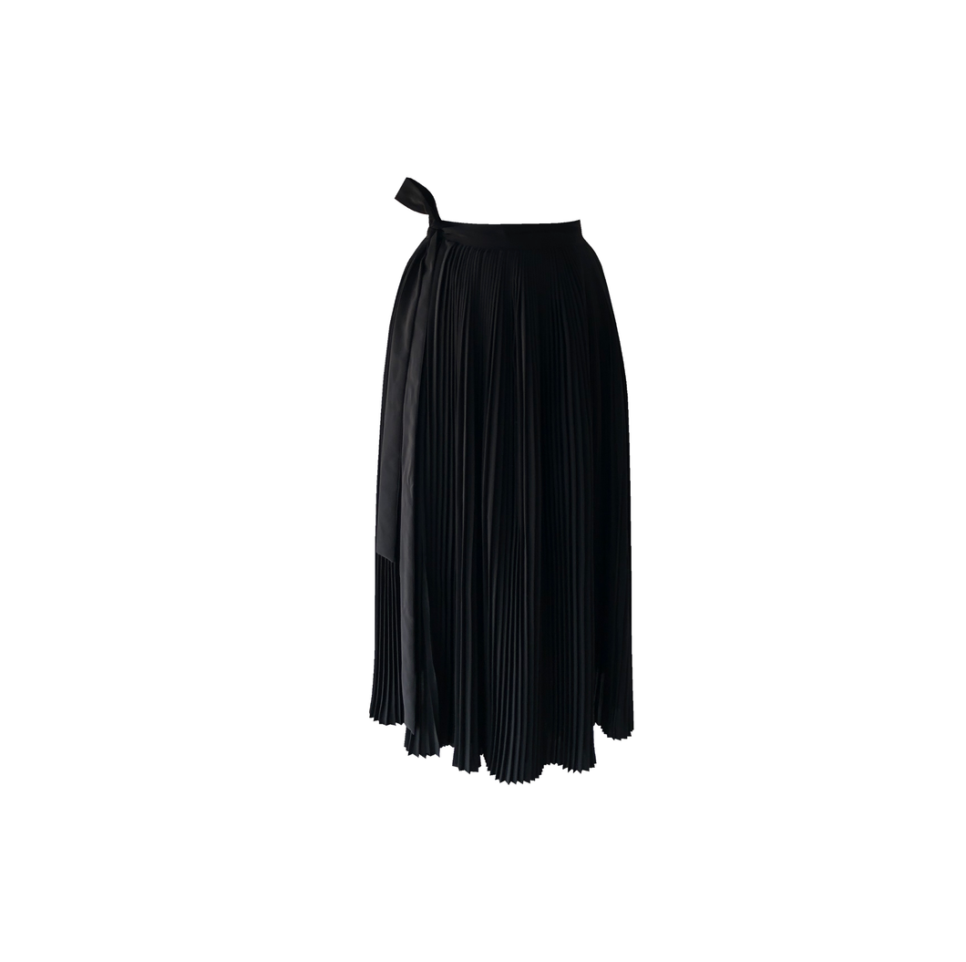Falda envolvente plisada [Hand pleated wrap skirt] 14
