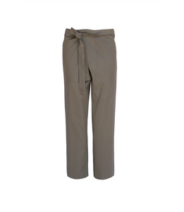 Pantalón cruzado recto [Wrapped straight leg pants]