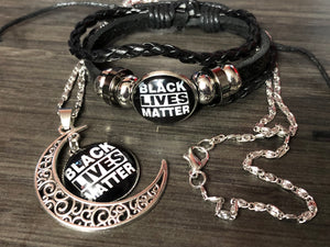 KB BLM Necklace and Bracelet Set