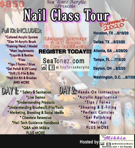 2 Day Class Tour Ticket (Pay $300 Deposit Here)