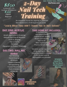 Nail Tech Classes (2-Day / BOOTCAMP / Hard Gel)