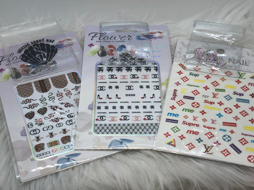 3 Designer Bundles stickers and stones