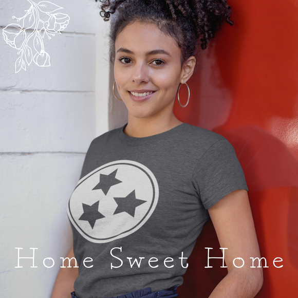2 Smiling Girls Wearing Home Sweet Home TN Tees