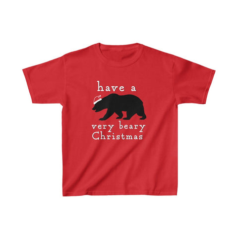 Have a Bear-y Christmas Kid's Short Sleeve Tee