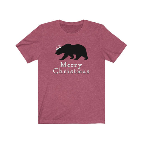 Merry Christmas Bear Short Sleeve Tee