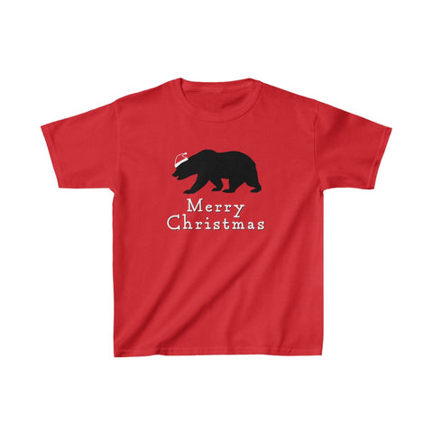 Merry Christmas Bear Kid's Short Sleeve Tee