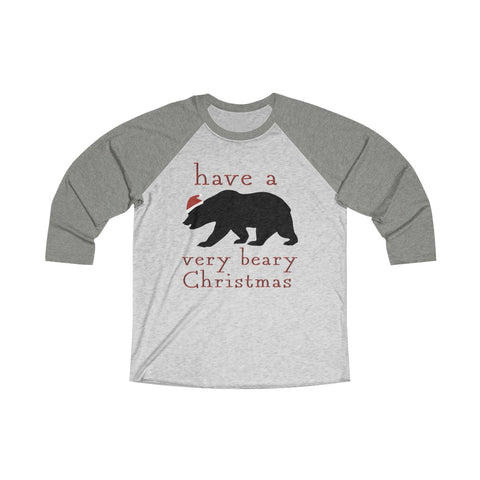 Have A Bear-y Christmas Raglan Tee