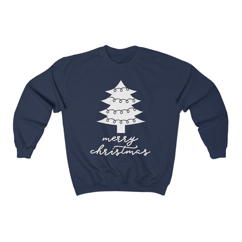 Merry Christmas Tree Crewneck Sweatshirt