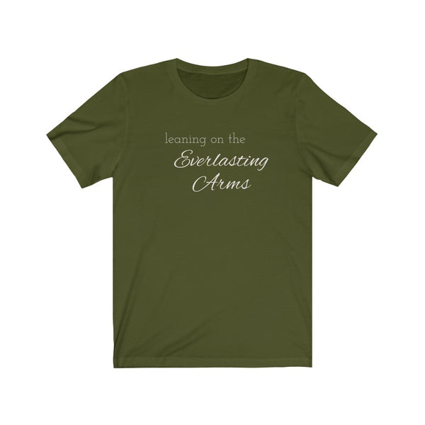 Leaning on the Everlasting Arms Short Sleeve Tee