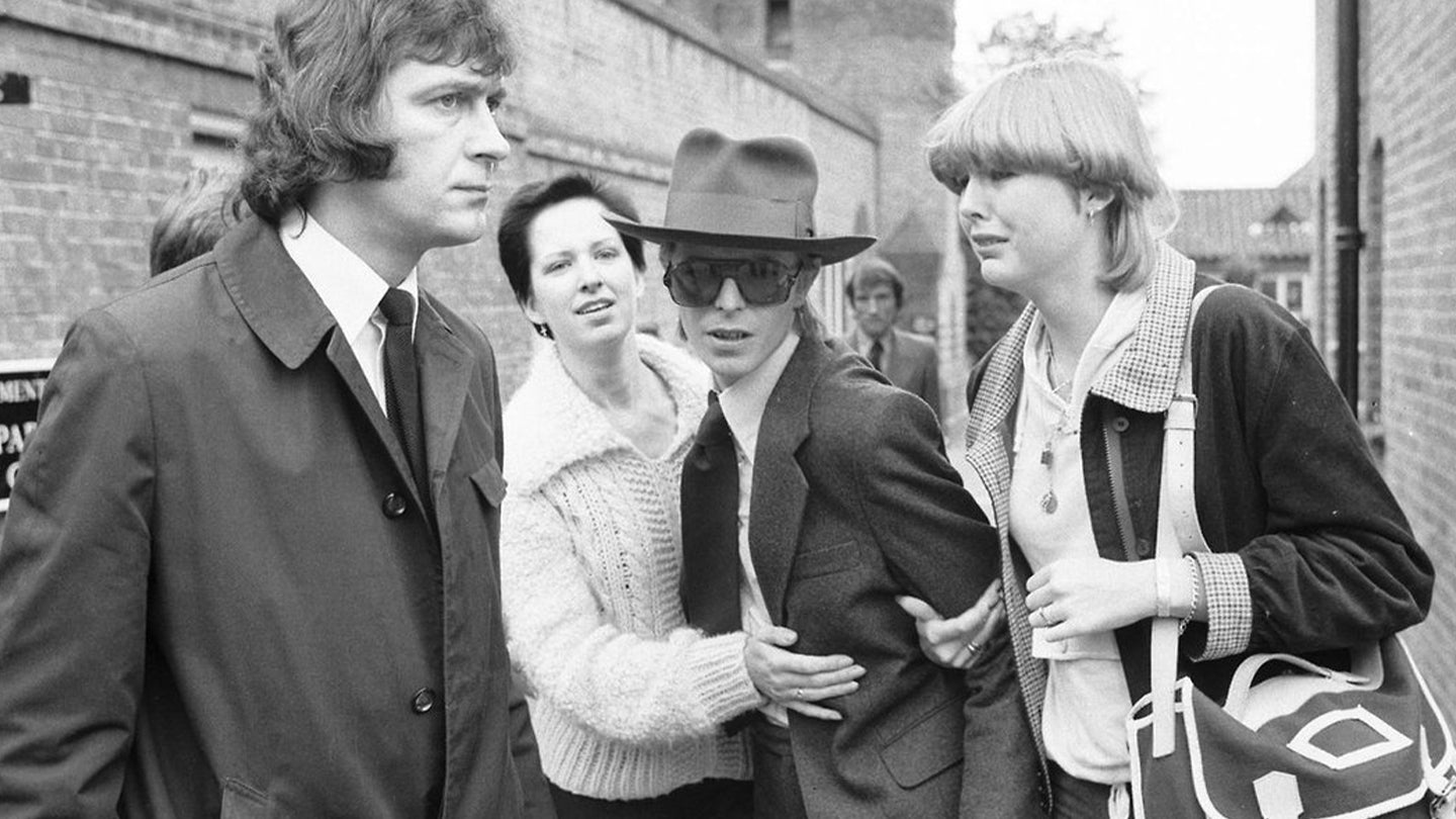 David Bowie Marc Bolan's Funeral