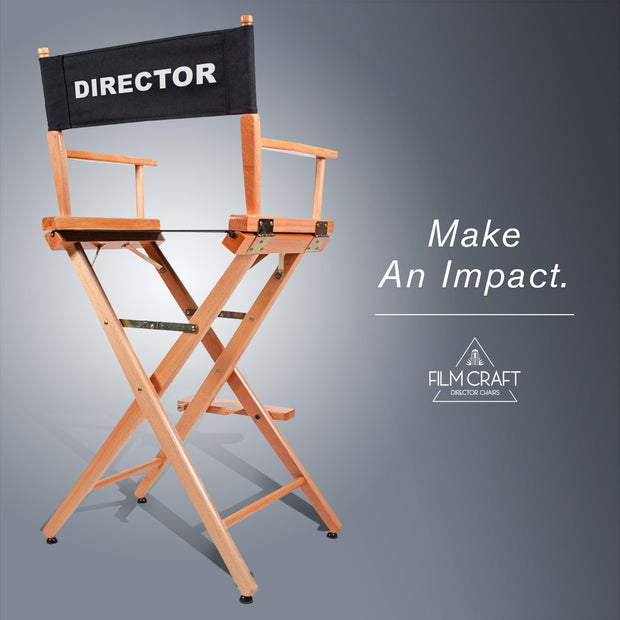 Director Chair (with pre-printed director canvas) - Filmcraft Studio Gear