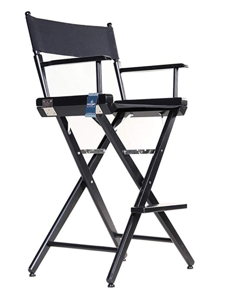 "TALL DIRECTOR CHAIR 30"" BAR HEIGHT BLACK FINISH (Pre-order ONLY) - Filmcraft Studio Gear"