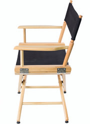 "SHORT DIRECTOR CHAIR 18"" DINING HEIGHT NATURAL FINISH - Filmcraft Studio Gear"
