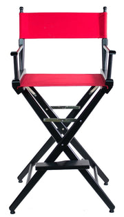 "TALL DIRECTOR CHAIR 30"" BAR HEIGHT BLACK FINISH - Filmcraft Studio Gear"