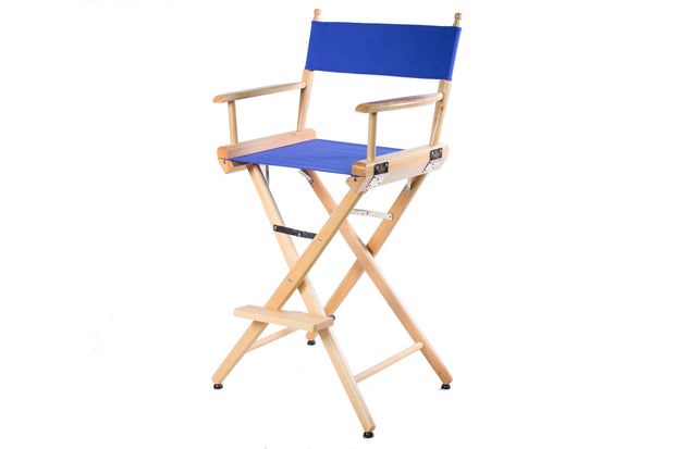 "TALL DIRECTOR CHAIR 30"" BAR HEIGHT NATURAL FINISH - Filmcraft Studio Gear"