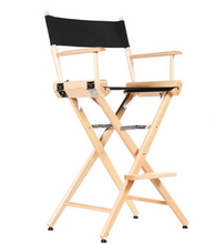 "Load image into Gallery viewer, FILMCRAFT PRO SERIES STUDIO DIRECTOR CHAIR 30"" BAR HEIGHT NATURAL FINISH"