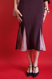 SERAPHINA DRESS - PLUM