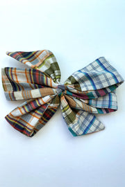 Patchwork Gift Bow Clip