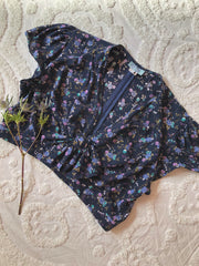 Navy Floral Rapture Blouse