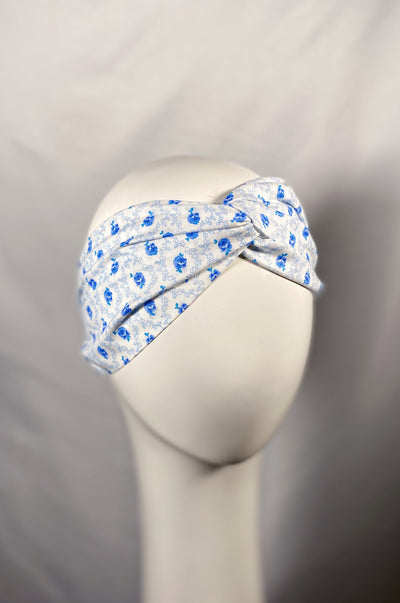 BLUE ROSETTE TURBAND